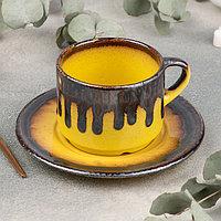 Чайная пара Cleopatra: чашка 200 мл, блюдце d=15,5 см