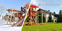 """Детская площадка Савушка """"4 сезона"""" 8, игровые башни, столик с лавочками, зимняя и обычная горка, лестница,, фото 1"""