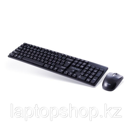 Комплект Клавиатура + Мышь Delux DLD-1505OGB, Беспроводной