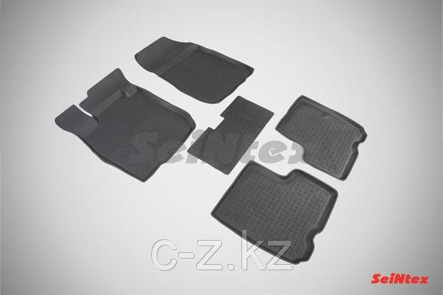 Резиновые коврики с высоким бортом для LADA LARGUS (5 мест) 2012-н.в., фото 2