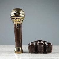 """Набор для вина """"Микрофон"""", 7 предметов в наборе, 0,5 л/0,1 мл, микс"""