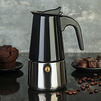 Кофеварка гейзерная «Итальяно», на 4 чашки, цвет чёрный