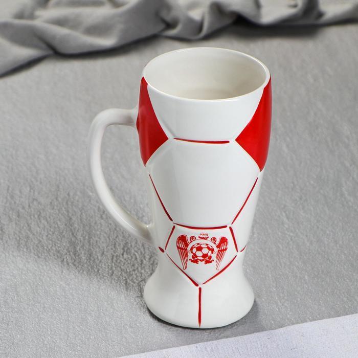 """Бокал """"Футбол"""" цвет красный, 0,5 л"""