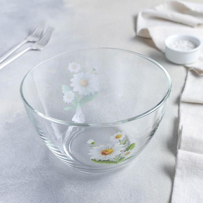 Салатник «Белые ромашки», 1,75 л