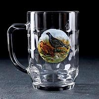 Кружка для пива «Охота-рыбалка», 500 мл, в подарочной упаковке, фото 1