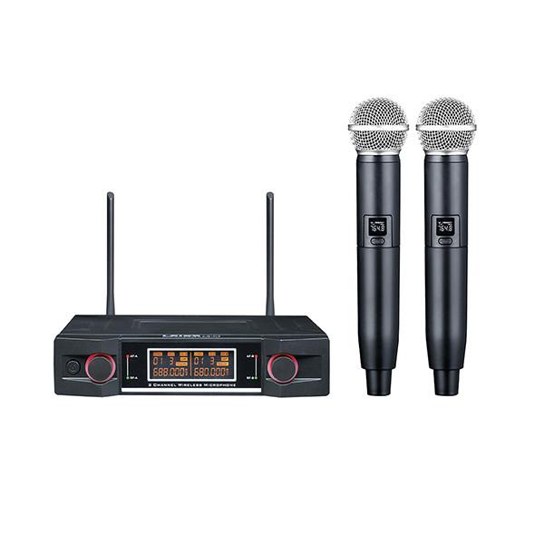 Двухканальная вокальная радиосистема, 2 ручных передатчика, LAudio LS-P3-2M