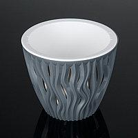 Кашпо со вставкой «Вдохновение», 3 л, цвет серый, фото 1