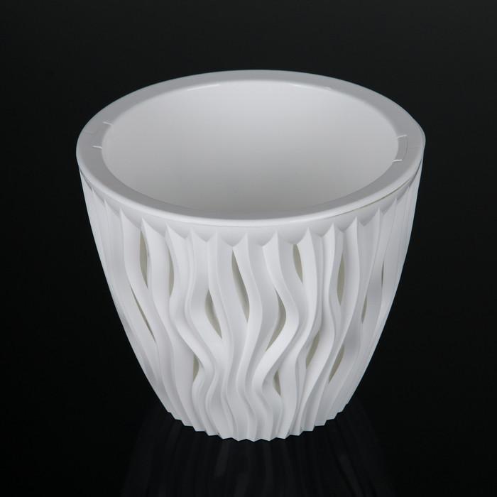 Кашпо со вставкой «Вдохновение», 3 л, цвет белый