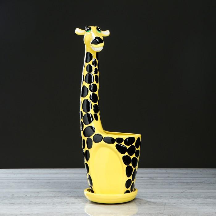 """Кашпо""""Жираф"""" желтый , 2,3 л"""