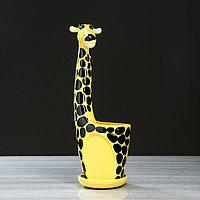 """Кашпо""""Жираф"""" желтый , 2,3 л, фото 1"""