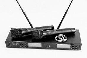 Двухканальная вокальная радиосистема, 2 ручных передатчика, LAudio LS-Q5-2M