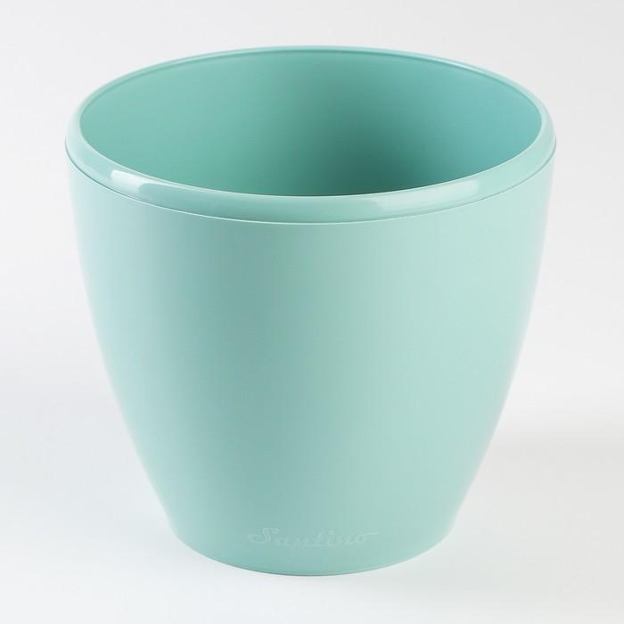 Кашпо со вставкой «Деко Твин», 1,5 л, цвет нефрит
