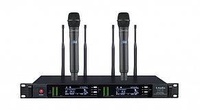 Двухканальная вокальная радиосистема, 2 ручных передатчика, LAudio