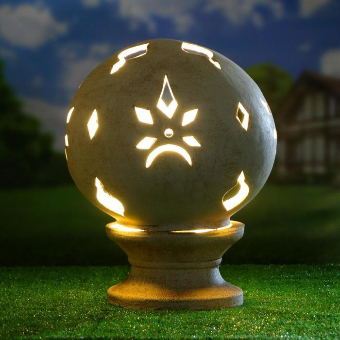 Садовый светильник ''Шар'' шамот, 42 см