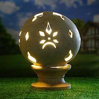 Садовый светильник ''Шар'' шамот, 42 см, фото 1