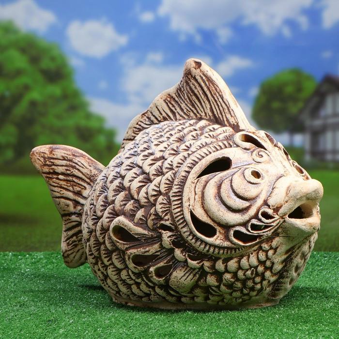 Садовый светильник ''Рыба'' шамот