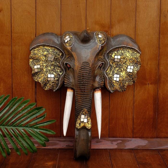 """Сувенир дерево """"Голова Слона"""" 46х17х50 см"""