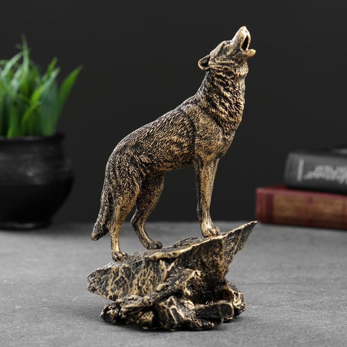 """Фигура """"Волк"""" бронза, 10х11х20см"""