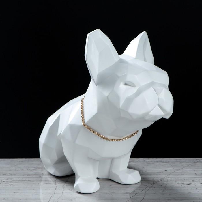 "Статуэтка ""Собака оригами"" белая, 23 см"