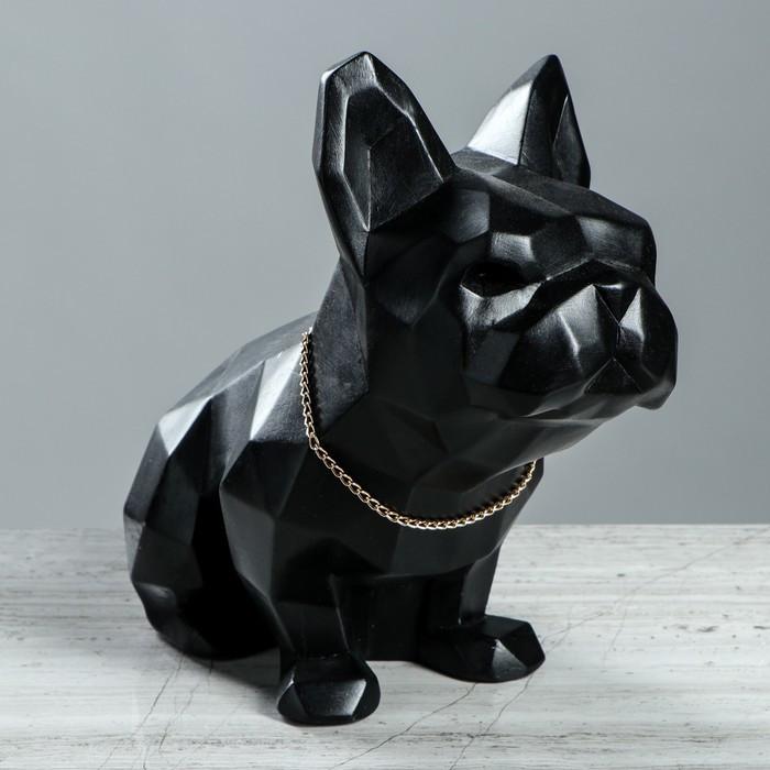 """Статуэтка """"Собака оригами"""" чёрная, 24 см"""