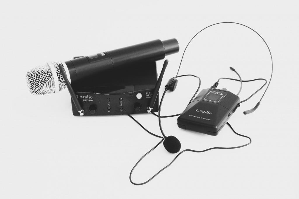 Двухканальная радиосистема с ручным передатчиком и головным микрофоном, LAudio PRO2-MH