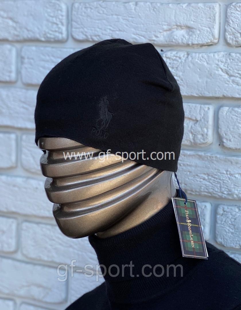 Шапка Polo черная (лого)