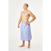 Полотенце вафельное для бани «Экономь и Я» (мужской килт), 75х144см, цвет сиреневый