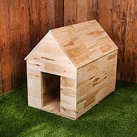 Будка для собаки, 75 × 60 × 90 см, деревянная, с крышей, фото 1
