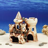 """Декорация для аквариума """"Замок с башней на скале"""" 12 × 19 × 17,5 см, фото 1"""