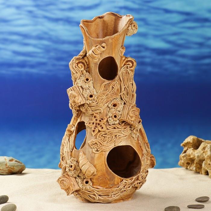 """Декорации для аквариума """"Сомятник"""" 31 см, микс"""