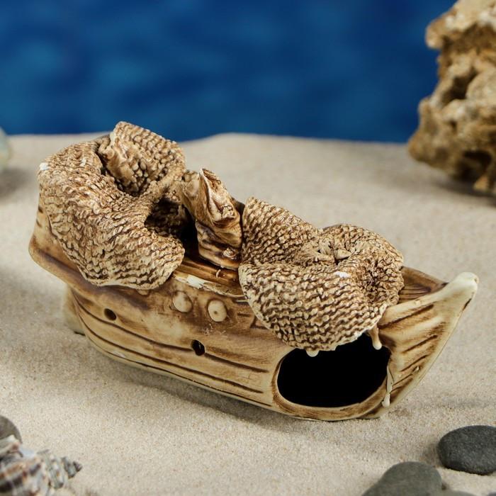 """Декорация для аквариума """"Кораблик"""", 5 х 14 х 7 см, микс"""