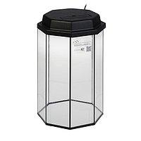 Аквариум восьмигранный с крышкой, 32 литра, 29 х 29 х 45 см, чёрный, фото 1