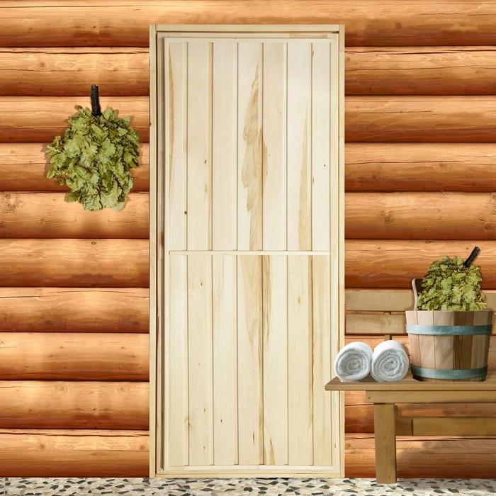 """Дверь для бани """"Эконом"""", 190×70см"""