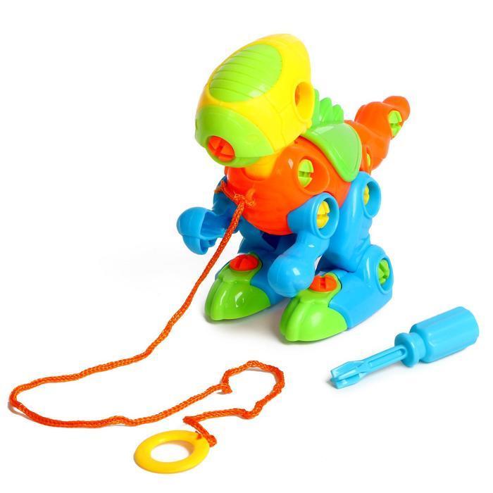 Конструктор для малышей «Динозаврик», с отвёрткой, 38 деталей