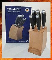 Набор кухонных ножей на деревянной подставке Vicalina VL-519