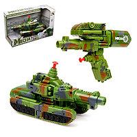 Трансформер «Танк», трансформируется в пистолет, стреляет водой, цвета МИКС, фото 1