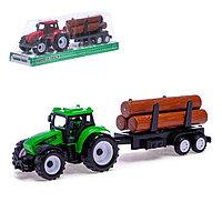 Трактор инерционный «Фермер», с прицепом, фото 1