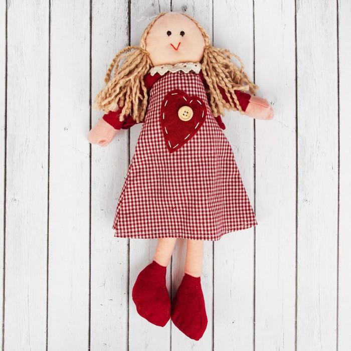 Кукла интерьерная «Ангел», сердечко, цвета МИКС