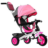 """Велосипед трёхколёсный «Лучик Vivat 1», надувные колёса 10""""/8"""", цвет розовый"""