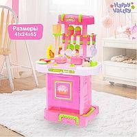 Игровой модуль кухня «Розовая мечта» с аксессуарами, складывается в чемодан, световые и звуковые эффекты, фото 1