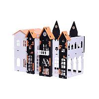 Домик для кукол «Замок Джульетты» с мебелью, бело-чёрный, фото 1
