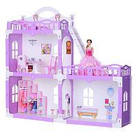 Домик для кукол «Дом Анна» с мебелью, бело-сиреневый, фото 1