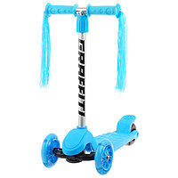 Самокат GRAFFITI, колёса световые PU 120/100 мм, цвет голубой, фото 1
