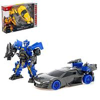 Робот-трансформер «Спорткар», цвет синий, фото 1