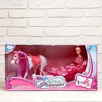Карета для кукол, лошадь ходит, с куклой, фото 1