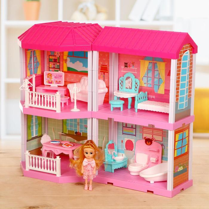 """Дом для кукол """"Таунхаус"""" с куклой, с аксессуарами"""