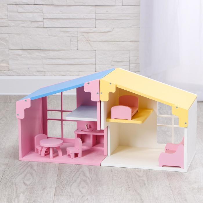 Дом «Евродом 2 в 1» два модуля с мебелью