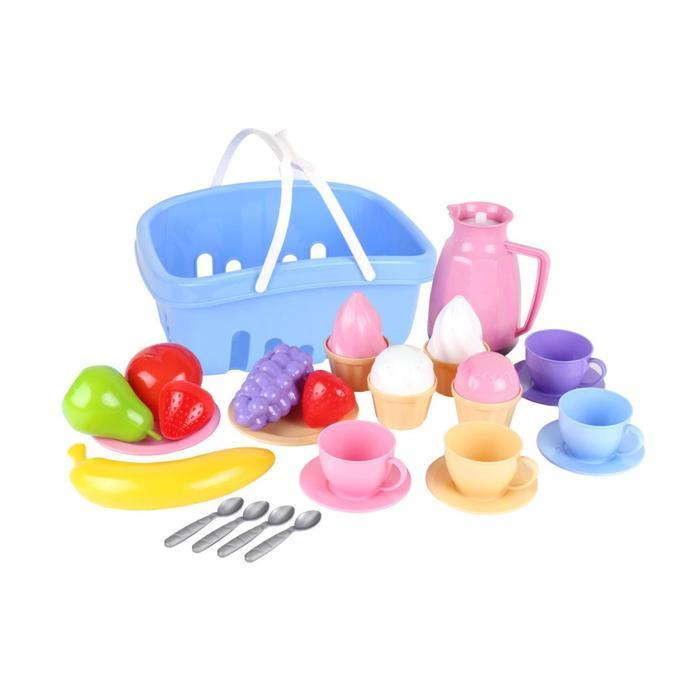 Набор посуды в корзине, 14 элементов