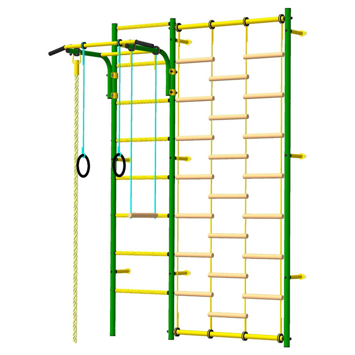 Детский спортивный комплекс «Атлет-С», ПВХ, 690 × 1630 × 2300 мм, цвет зелёный