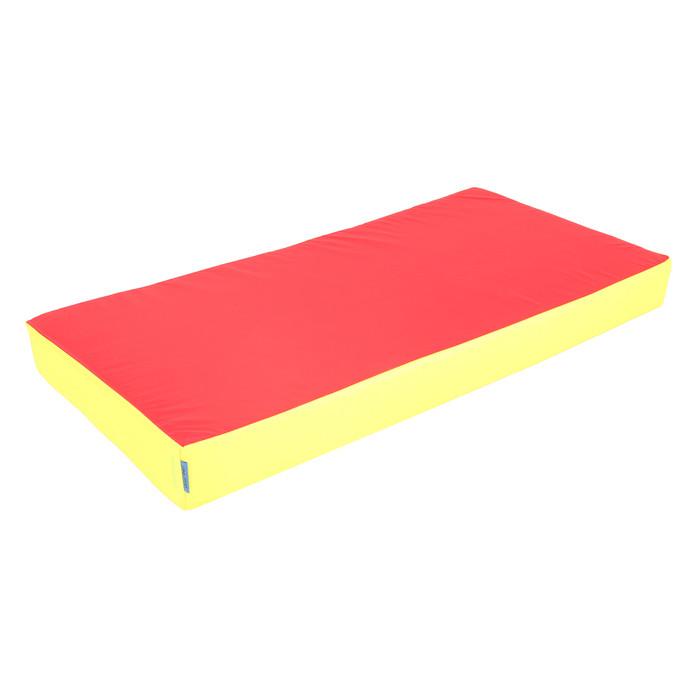 Мат 100 х 50 х 10 см, oxford, цвет жёлтый/красный